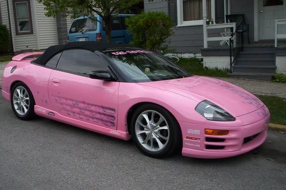 Pink Mitsubishi Eclipse ☆ Girly Cars for Female Drivers! Love Pink Cars ♥ It's the dream car for every girl ALL THINGS PINK #mitsubishi #pink