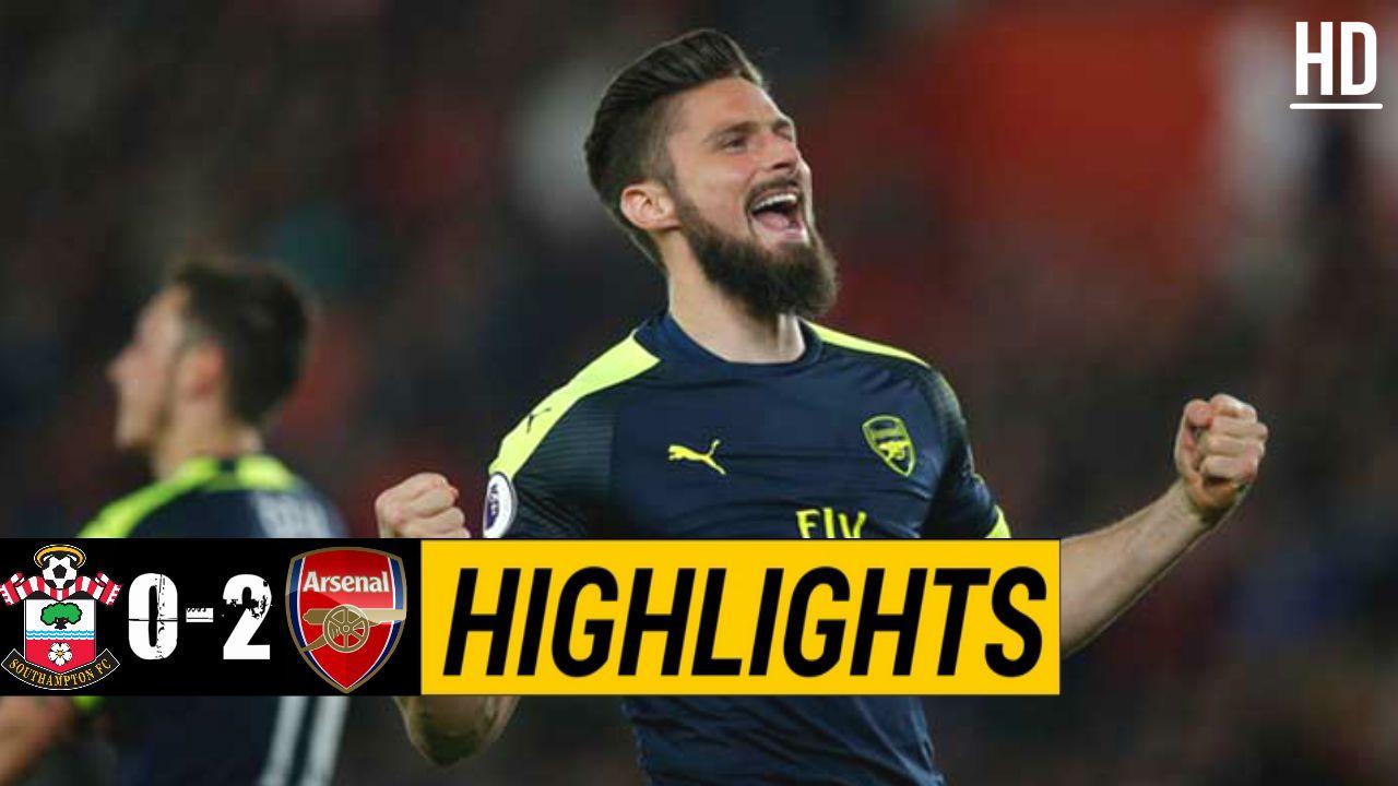 Southampton vs Arsenal Highlights / May 10, 2017 | English ...