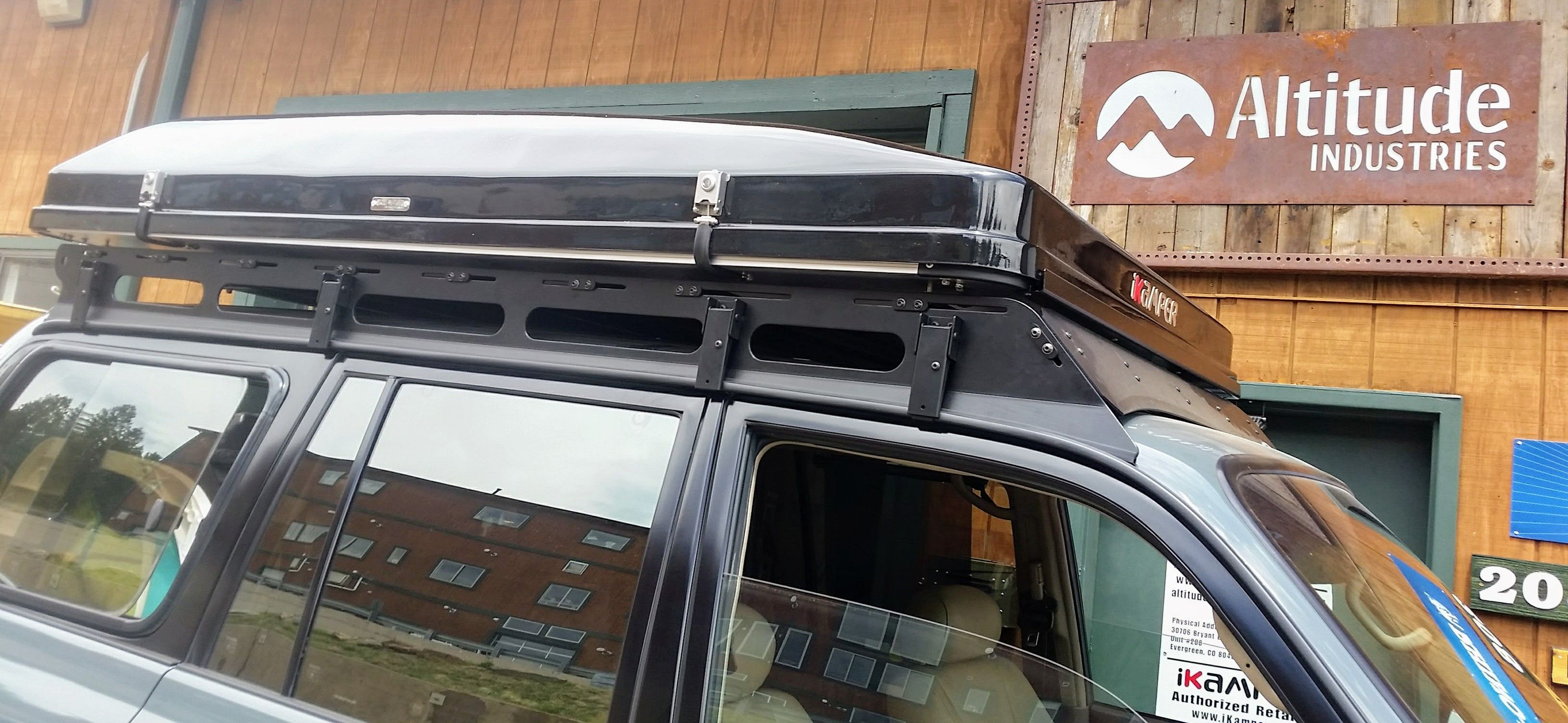 80 S Series Toyota Land Cruiser Bowfin Roof Rack And Ikamper Skycamp They Fit Like A Glove Toyota Land Cruiser Roof Rack Land Cruiser