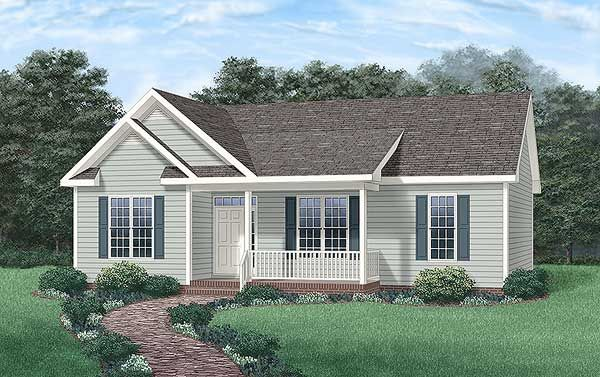 Ranch Style House Plan 45234 With 3 Bed 2 Bath Country Style House Plans Ranch Style House Plans House Plans