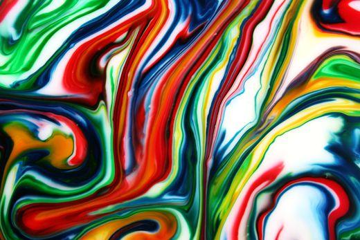 DIY Milk Art: milk, toothpick, plate or shallow dish, liquid ...