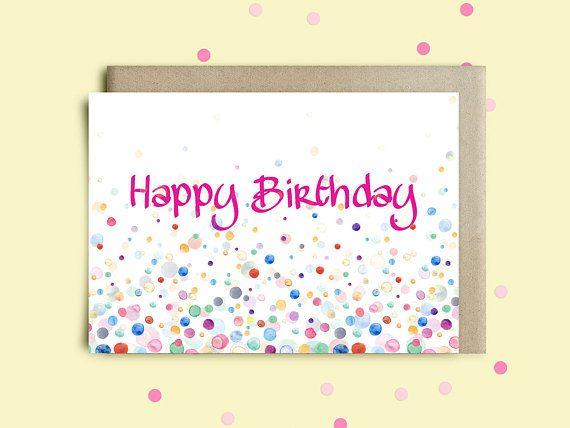 Printable birthday card happy birthday handmade greeting card – Mother Birthday Card Printable