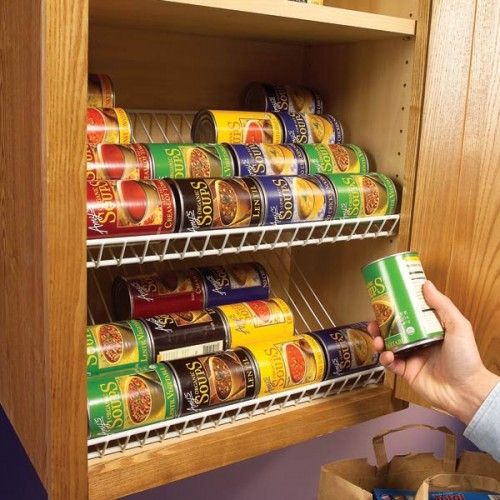 Simple Slanted Shelves For Cans Why Complicate Things Kitchen