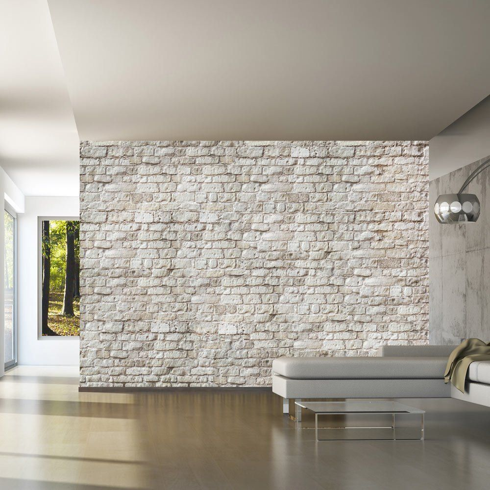 Comment choisir papier peint d co murale salon brique - Brique murale ...