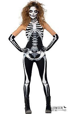 Black Bad to the Bone Skeleton Adult Womens Costume Forplay