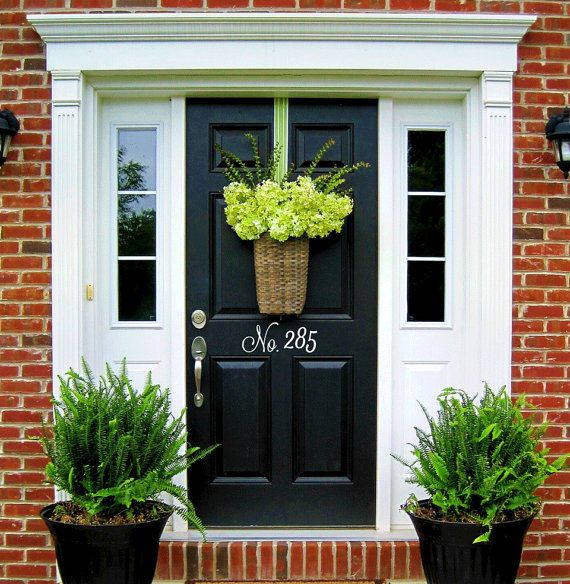 vinyl house door numbers door number decals house number address number door decor curb appeal. Black Bedroom Furniture Sets. Home Design Ideas