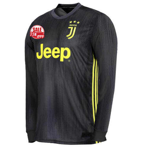 637fda1fc Juventus Long Sleeve Third Soccer Jersey Shirt 2018-19 Model  Goal63897  cheap football kit on goaljerseyshop.com