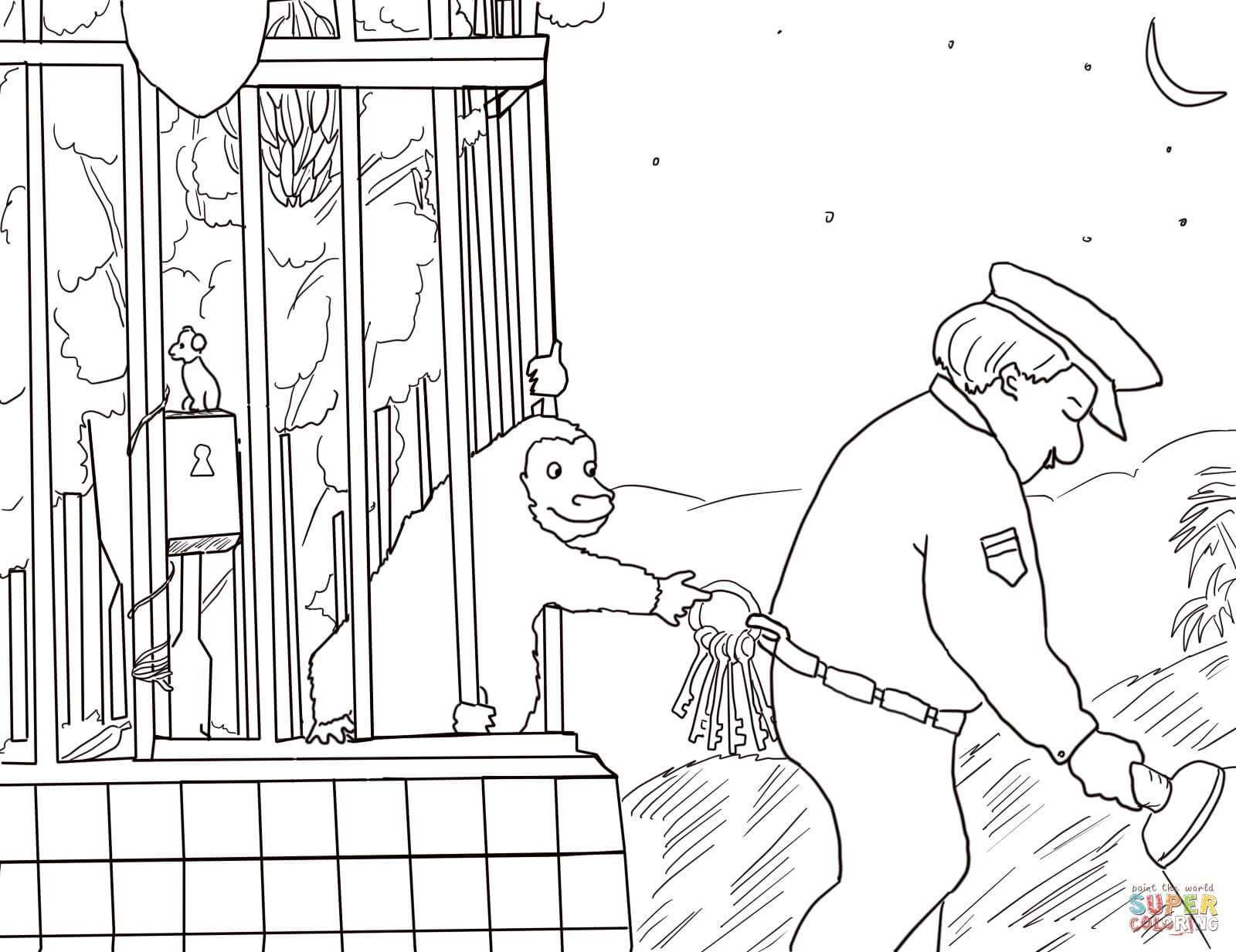 Good Night Gorilla Coloring Page