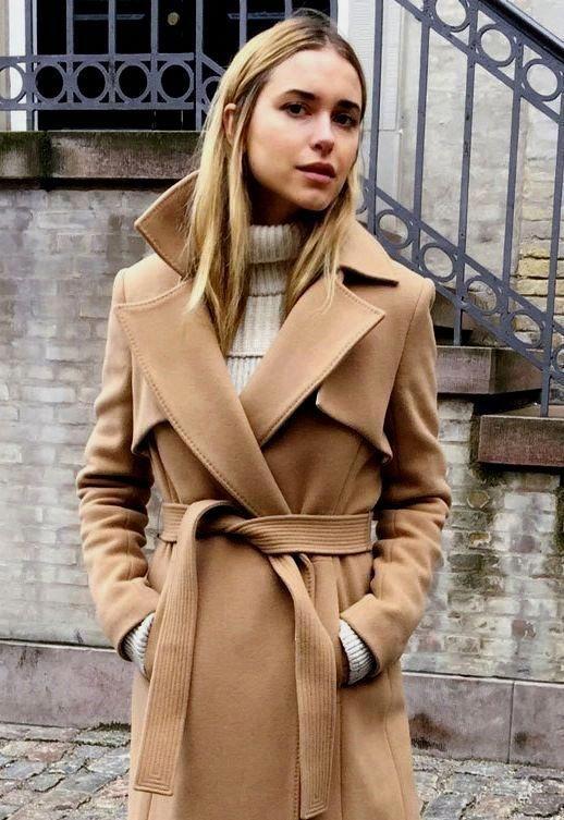 camel coat outfit #CAMELCOAT #mittellangeröcke