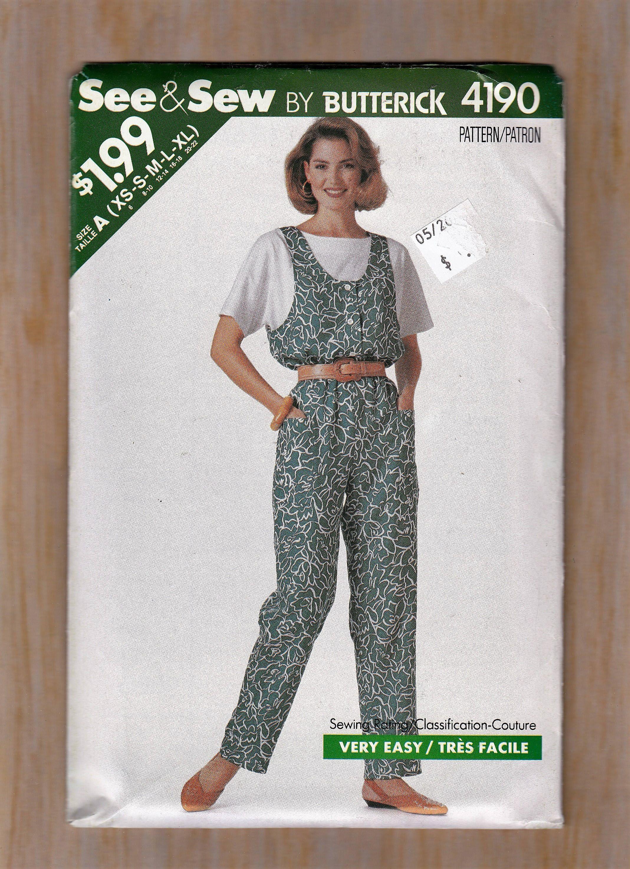 1980s womens sewing pattern sleeveless summer jumpsuit and top 1980s womens sewing pattern sleeveless summer jumpsuit and top blouse size 6 22 bust jeuxipadfo Choice Image