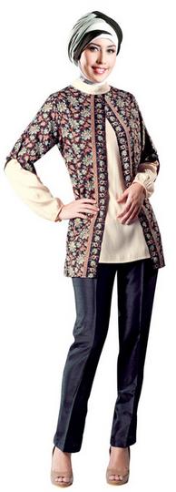 Foto Baju Batik Busana Muslim Untuk Perempuan Remaja  Batik