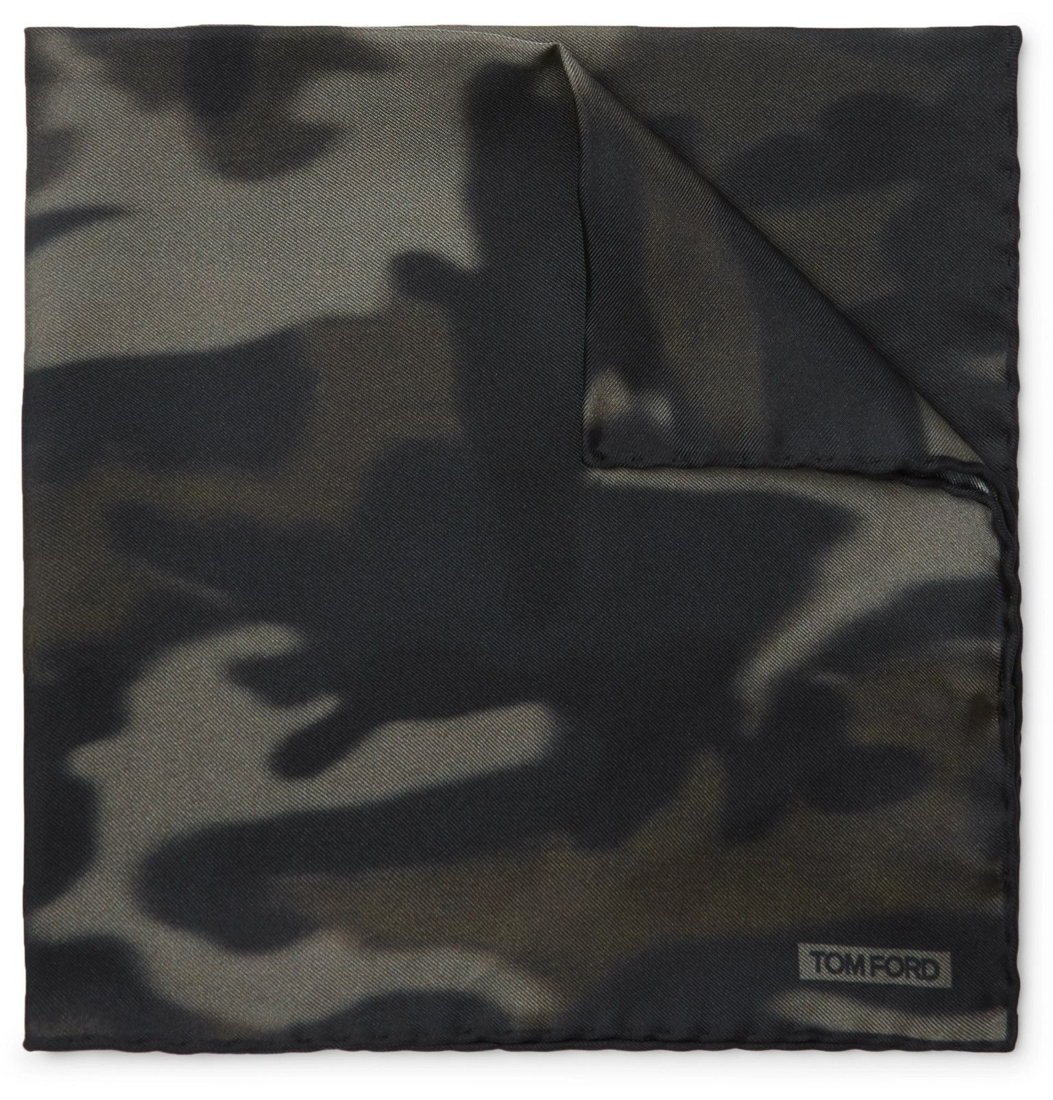 TOM FORD - Camouflage-Print Silk-Twill Pocket Square - Men - Green #pocketsquares