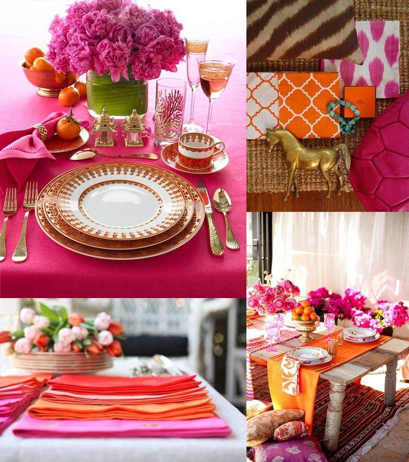 Pink And Orange Reception Decor Beautiful Orange And Pink Wedding Beach Wedding Pink Orange Decor