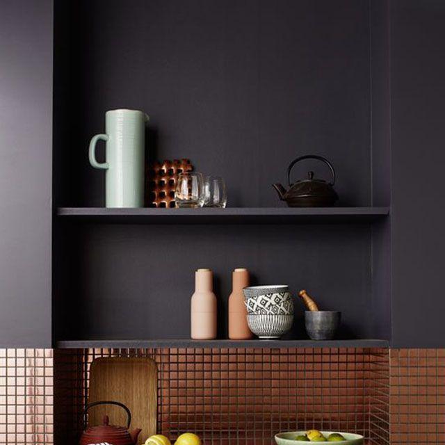 Peinture murs et boiseries TOLLENS Equilibre gris anthracite satin 2 ...