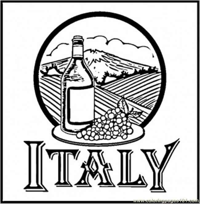 Wineofitaly Fycad Jpg 650 663 Pixels With Images Flag Coloring