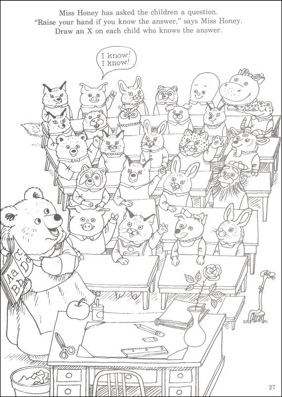 Richard Scarry Coloring Page Scary Coloring Pages Coloring Pages Colouring Pages