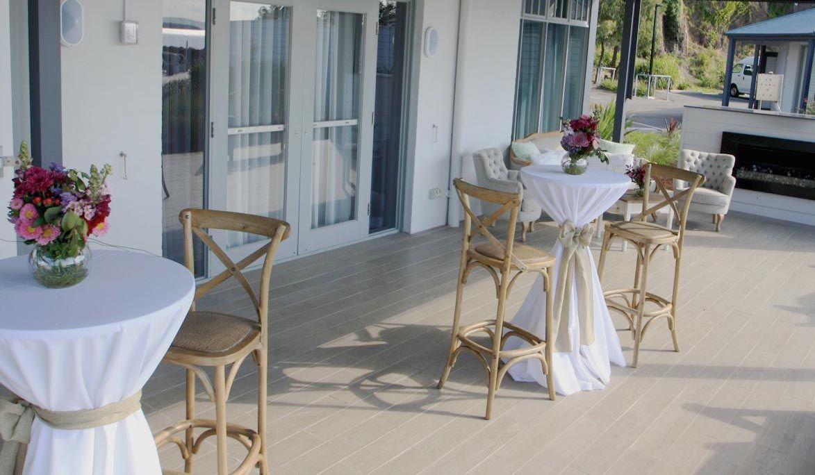 Timber cross back bar stools wedding hire port stephens hunter valley newcastle table