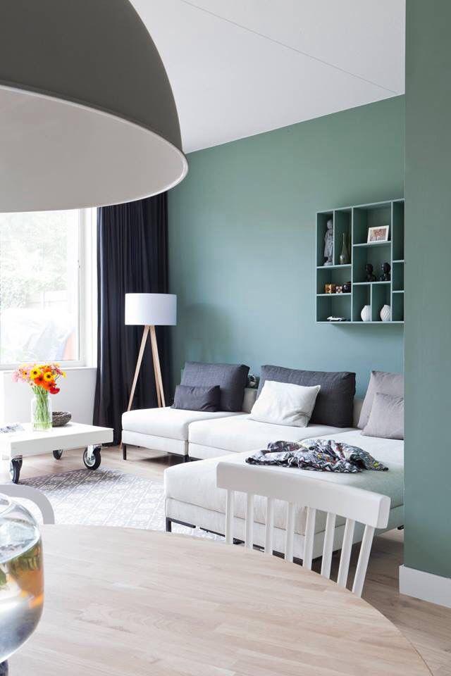 Prettige sfeer  para mi casa  Pared color verde Colores