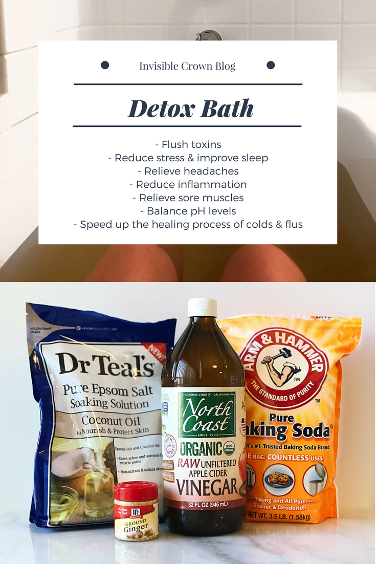 Detox Bath recipe with epsom salt, apple cider vinegar