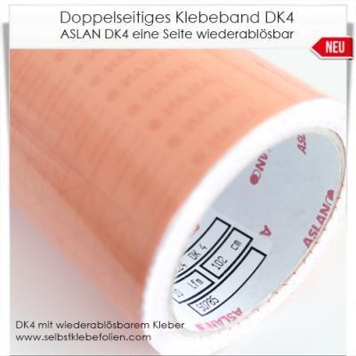 Doppelklebefolie DK 4 einseitig wiederablösbar