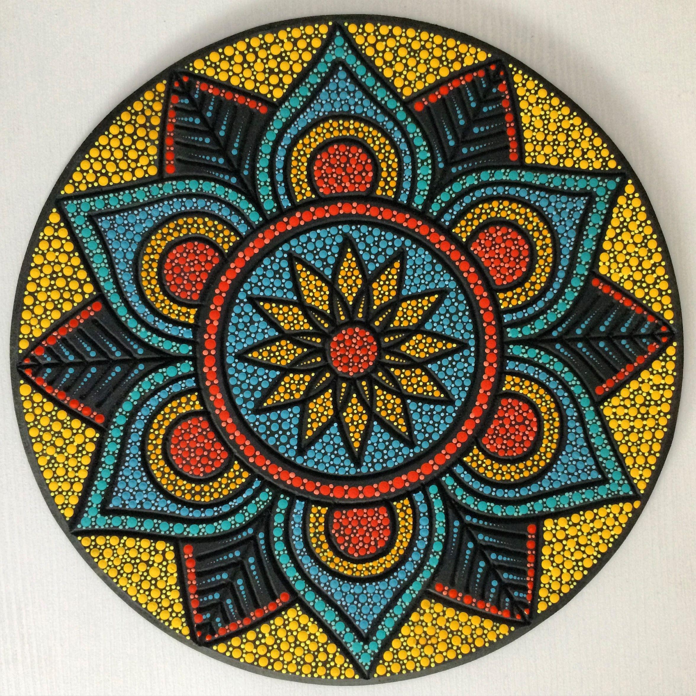 Mandala Mdf 35cm Pinta Facil Brasil Pintafacilbrasil Mosaics