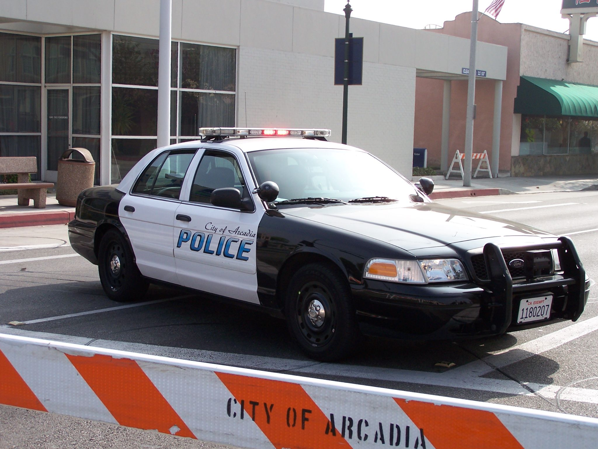 Arcadia Police Ford Crown Victoria With Blue Scheme Graphics