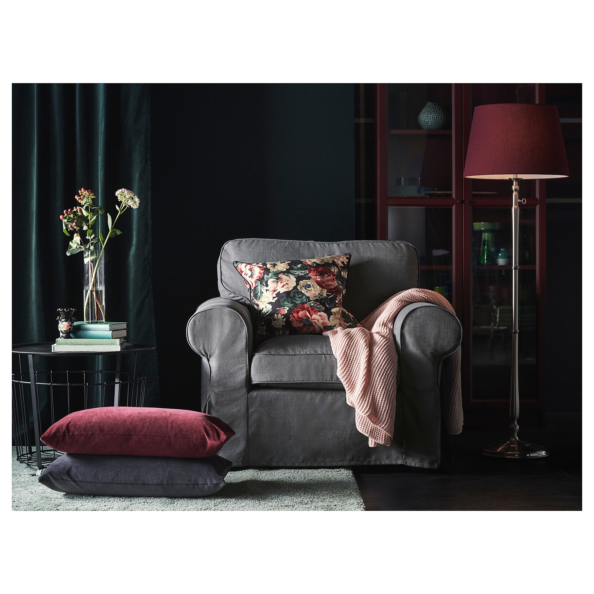 IKEA EKTORP Armchair Nordvalla dark gray Products in