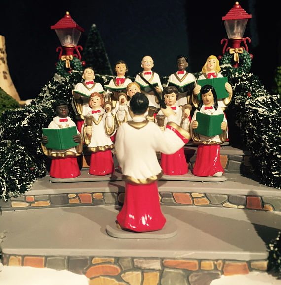 Department 56 Holiday Singers Village Animated Christmas Choir