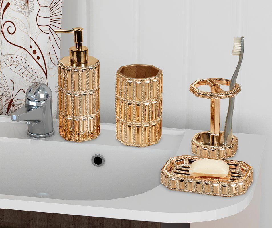 Ibarra 4 Piece Bathroom Accessory Set Decoratie