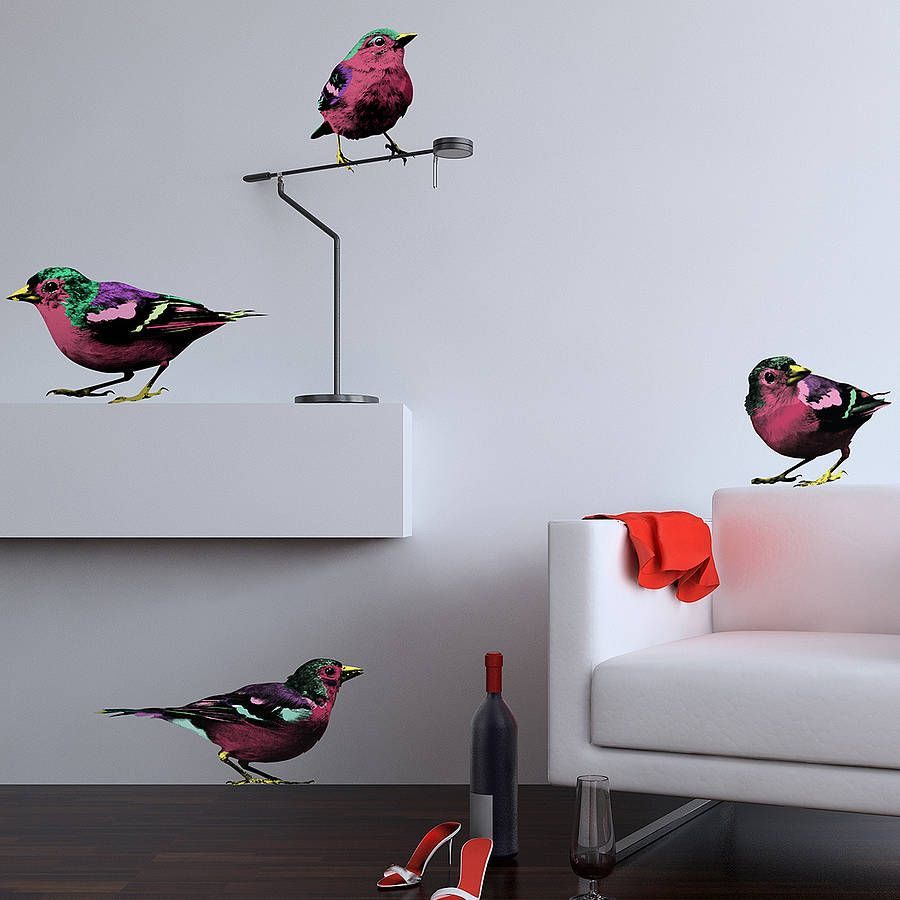 Pop art sparrows wall stickers wall sticker adhesive vinyl and walls add colour to any room with our pop art inspired sparrow bird wall stickers perfect for all of the nature lovers out thereall of our wall stickers are thecheapjerseys Gallery
