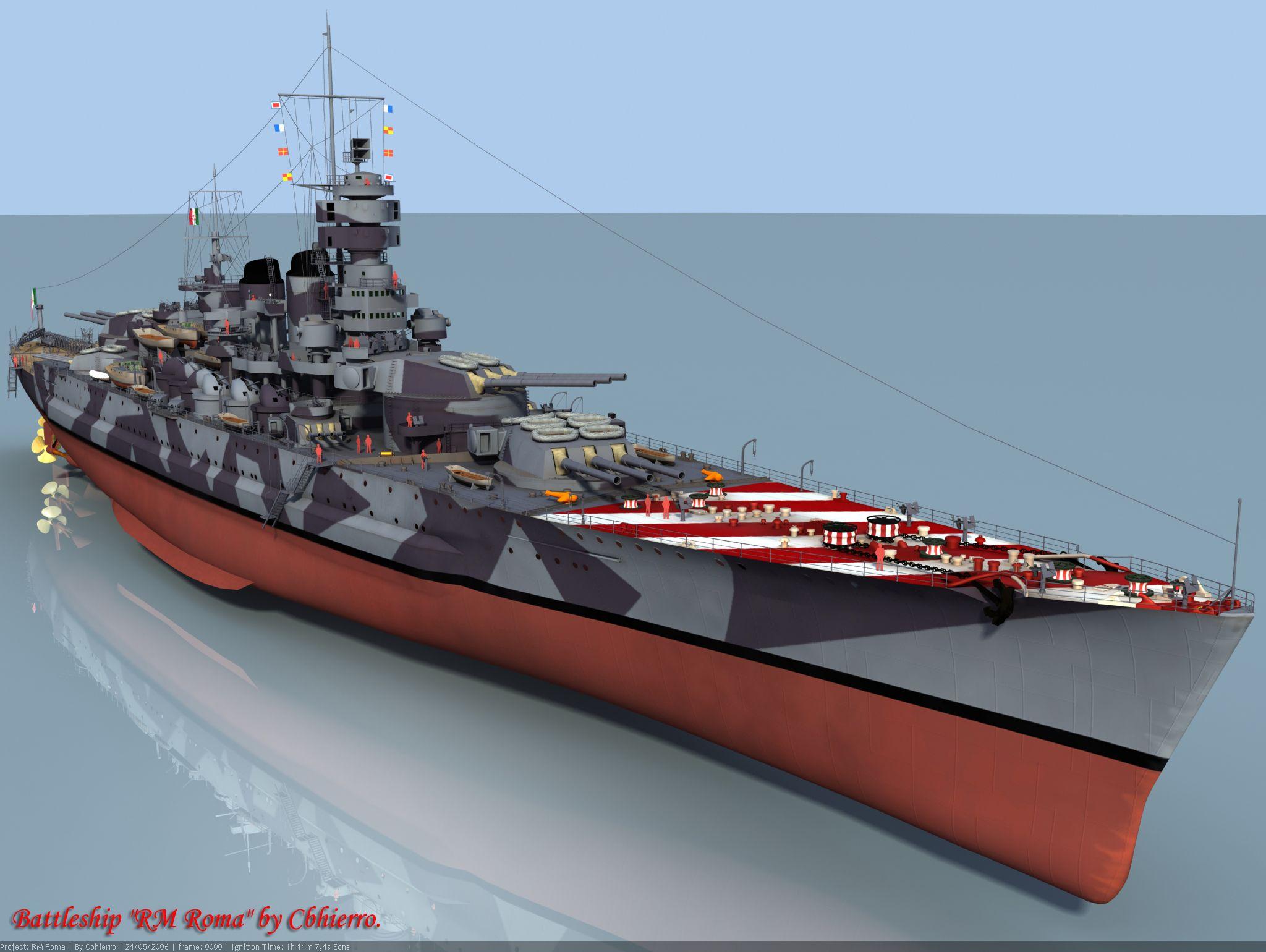 Wwii italy navy battleship roma 1943 plastic model images list - Cg Drawing Of Italian Battleship Roma