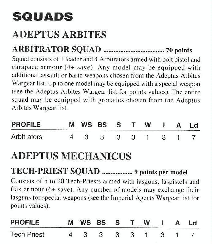 2nd Edition, Adeptus Arbites, Rules | War of Hammer | Wargaming