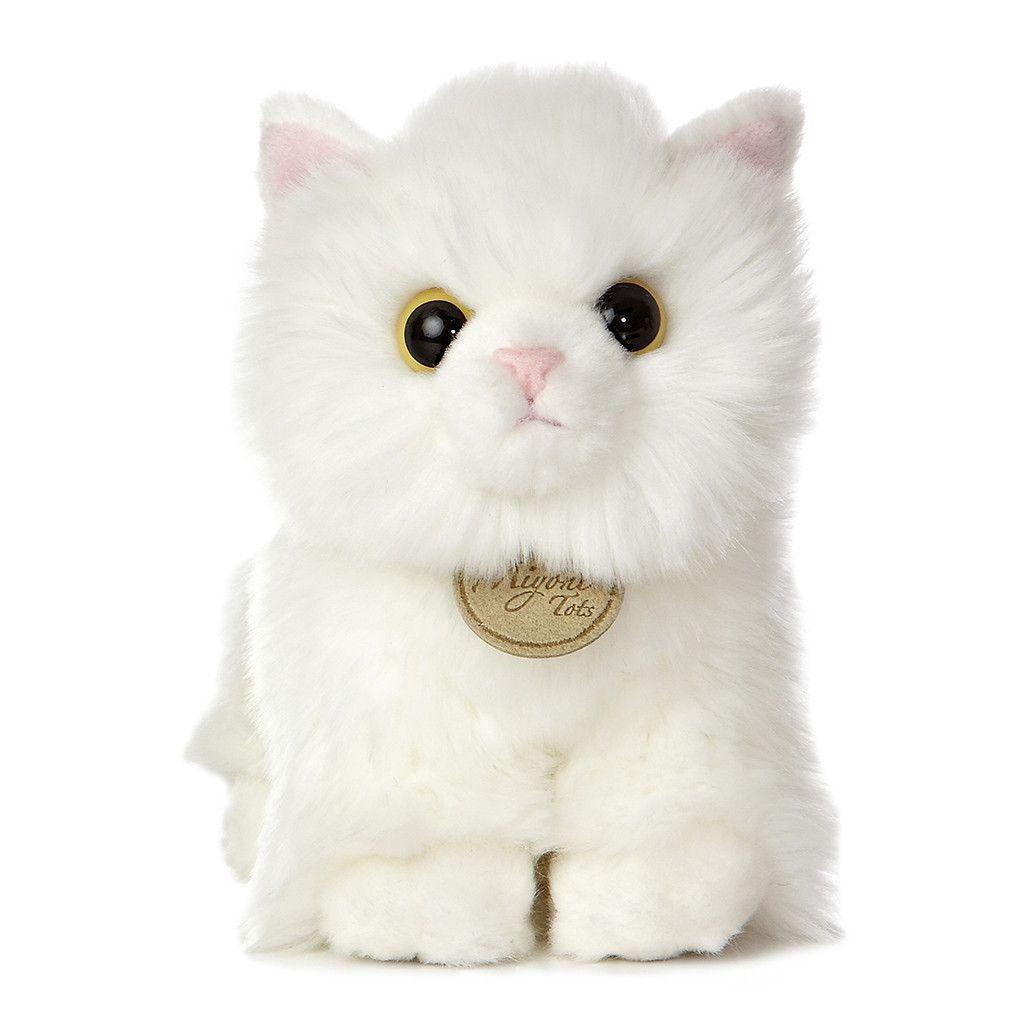 Aurora Miyoni Tots 7 5 In 2020 Kitten Plush Toy Angora Cats Plush Stuffed Animals