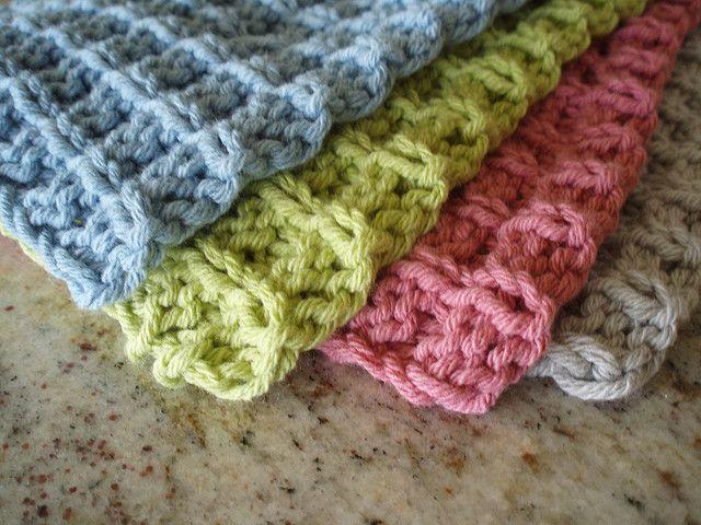 double bump dishcloth pattern. | Wine and dine | Pinterest | Tejido ...