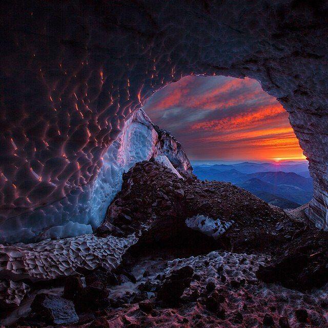 Sandy Glacier Caves, Mount Hood, Oregon, U.S.   Photography by © Josh Hydeman (@Josh_Hydeman) #EarthOfficial