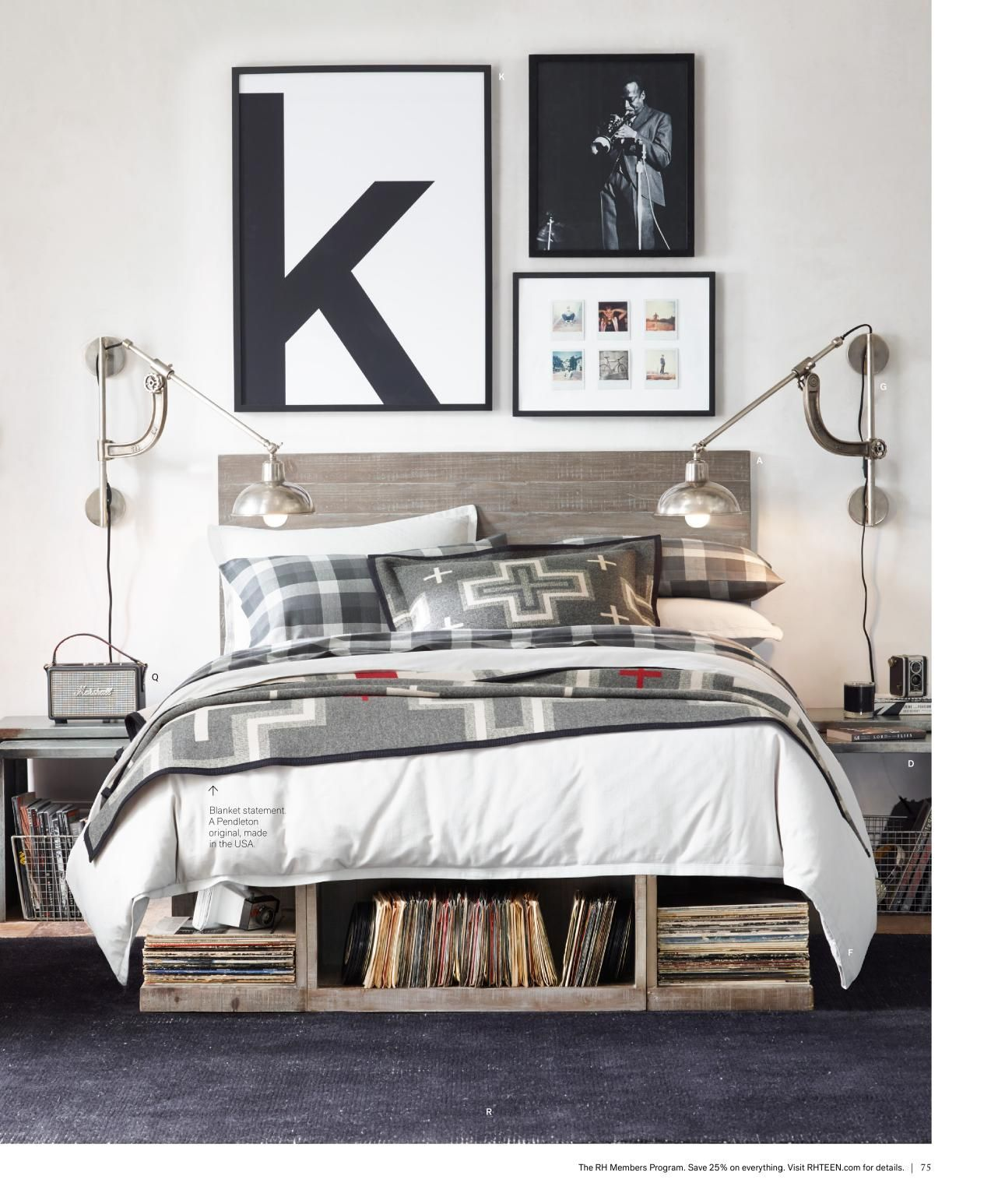 03 Vintage Boy Bedroom With A Gorgeous Comfy Bed And Soft Headboard Digsdigs