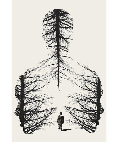 'The Walk' Graphic Art Print