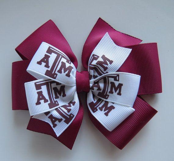 texas aggies hair bow ribbons
