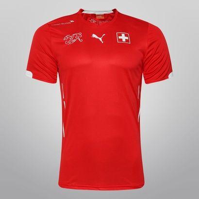 Camisa Puma Seleção Suíça Home 2014  7183e1b2f221e