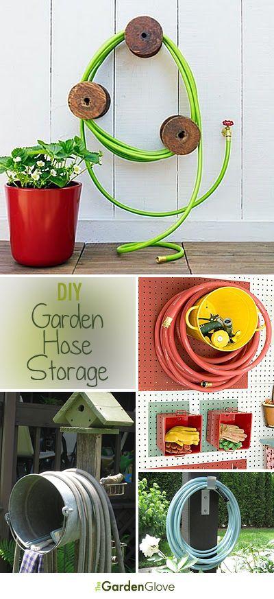 Diy garden hose storage garden hose storage hose for Garden hose idea