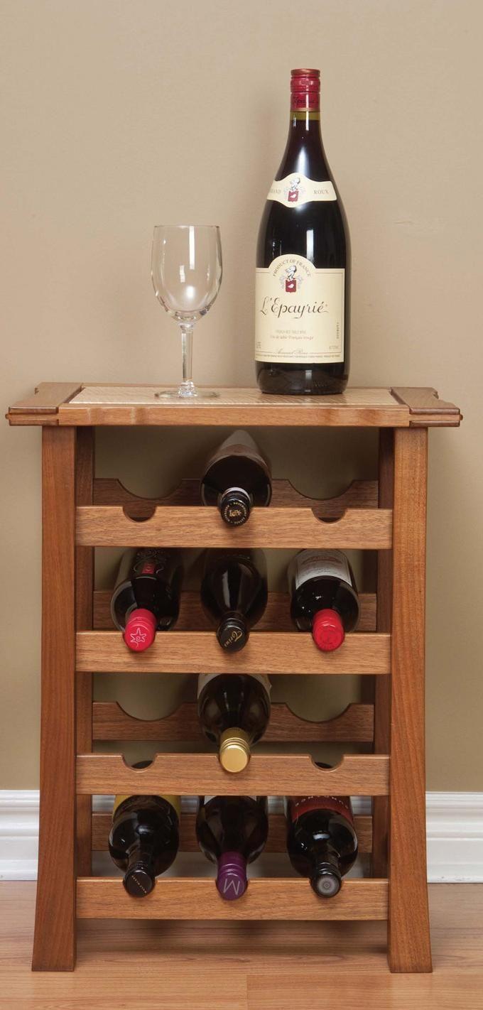Make a Wine Rack Table | Estantes de vino, Madera y Muebles madera