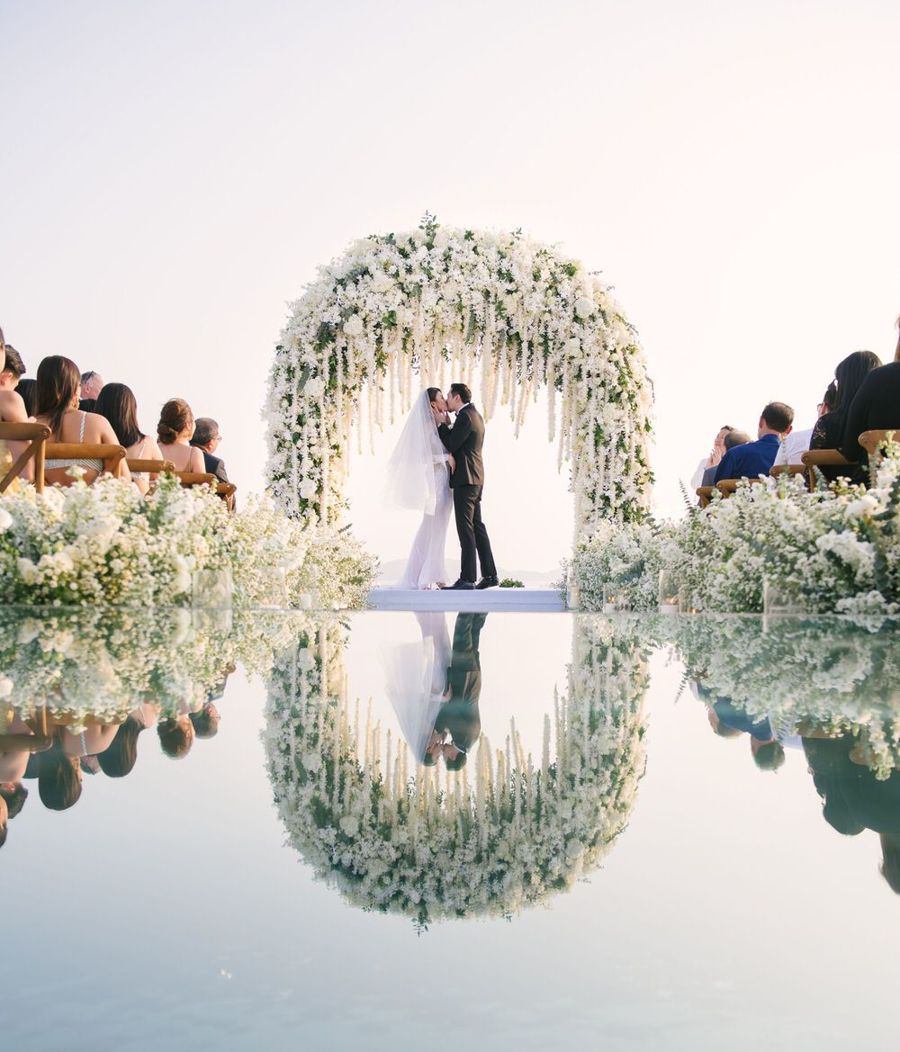Outdoor Wedding Ceremony No Music: Glam Phuket Wedding With Stunning Mirror Walkway