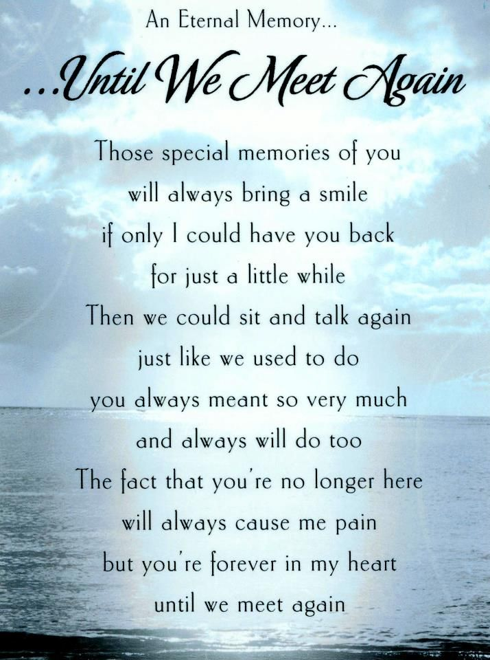 Until We Meet Again Grief Missing You Quotes Miss You Dad Love
