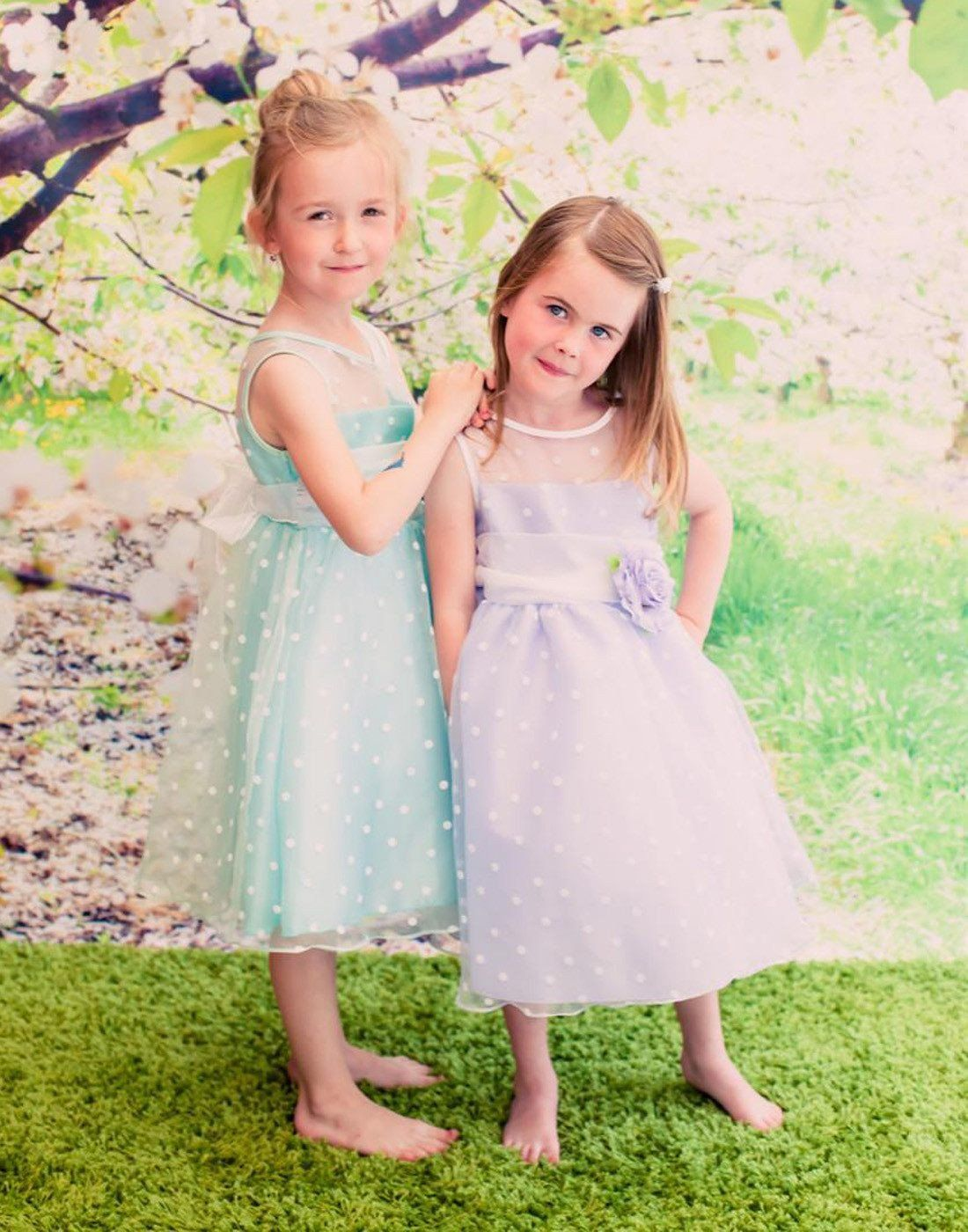 fb8f56ea15c3 Polka Dot Organza Overlay Dress with an Organza Sash - Infant Size - Mint |  eFavorMart / This attractive dress features a sleeveless bodice with  illusion ...