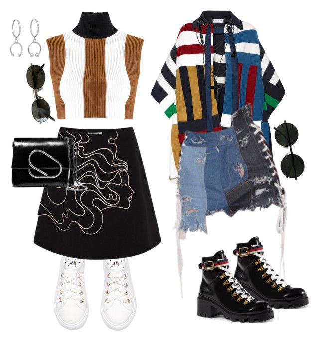 """""""Mini Afflictions"""" by dissolving-film ❤ liked on Polyvore featuring Haight, VIVETTA, Sonia Rykiel, 3.1 Phillip Lim, Ray-Ban, Maria Francesca Pepe and Gucci"""