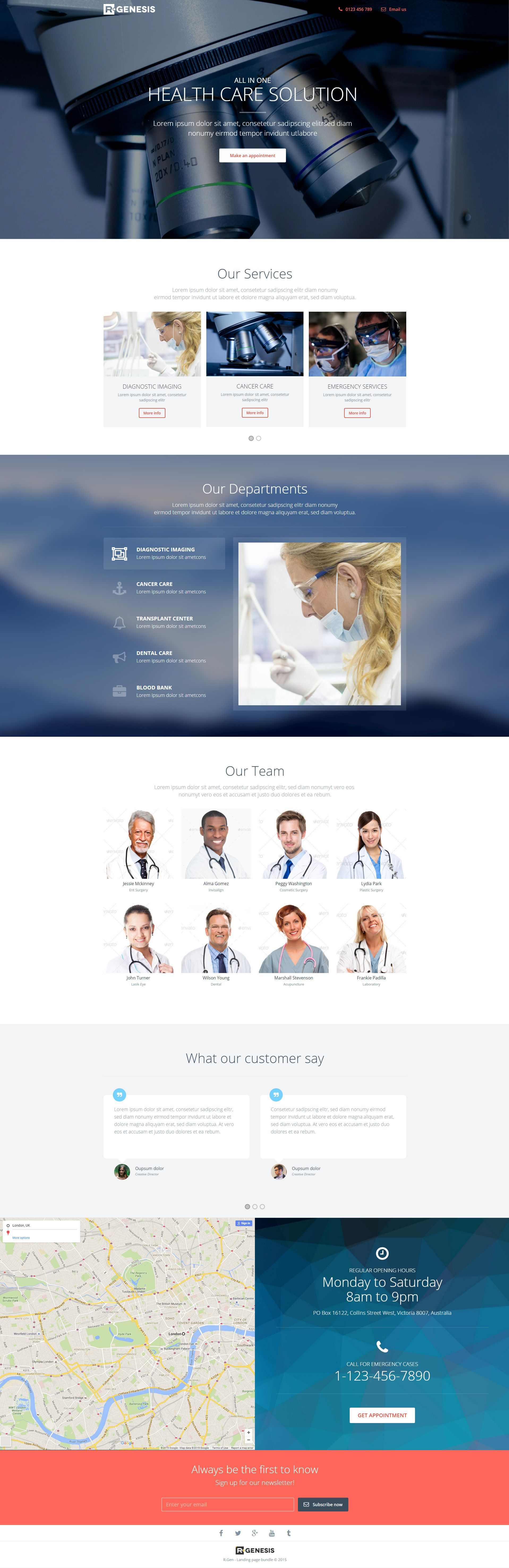 RGen Landing Page With Page Builder Template And Web Design - Medical landing page template