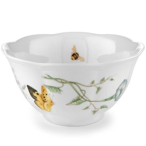 Butterfly Meadow Rice BowlMore about the item The most popular casual dinnerware collection in America  sc 1 st  Pinterest & New Lenox Butterfly Meadow Set of 4 Rice Bowls Blue Flower Monarch ...