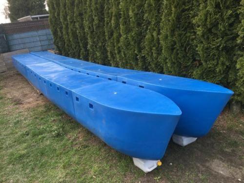 hausboot ponton katamaran schwimmk rper plattform rumpf. Black Bedroom Furniture Sets. Home Design Ideas
