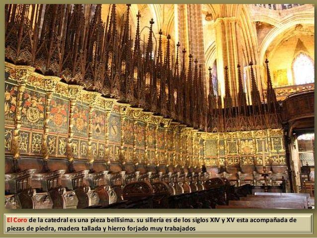 Silleria Del Coro De La Catedral De Barcelona Buscar Con Google Arte Español Barcelona Ciudad La Catedral De Leon