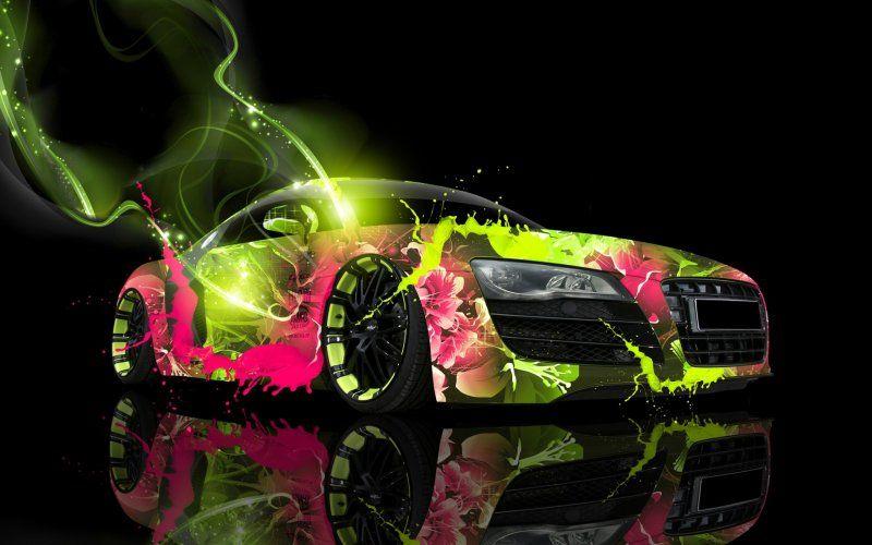 Artwork Colorful Audi R8 Wallpaper Sports Car Wallpaper Audi R8 Wallpaper Car Wallpapers Free hd cars wallpapers apk download